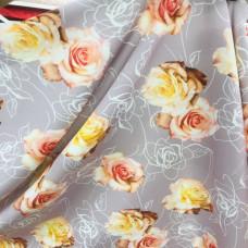 Барби принт - коралловые розы на пудре