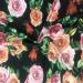 Джерси принт - вьющаяся роза с листьями