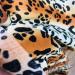 Поплин рубашечный - леопард в полоску