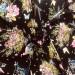 Вискоза принт — бабочки на черном